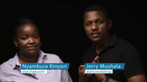 Jerry Mushala from Tanzania has teamed up with Nyambura Kinyori of PichaBooth from Nairobi, Kenya and we are gifting a lucky couple with a free wedding film and photo booth at their upcoming wedding.